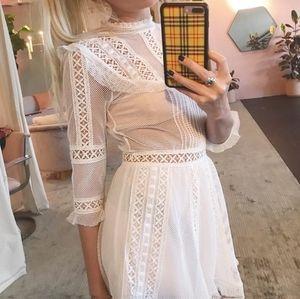 FL&L Victorian tulle mini dress